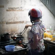Helmet cooking