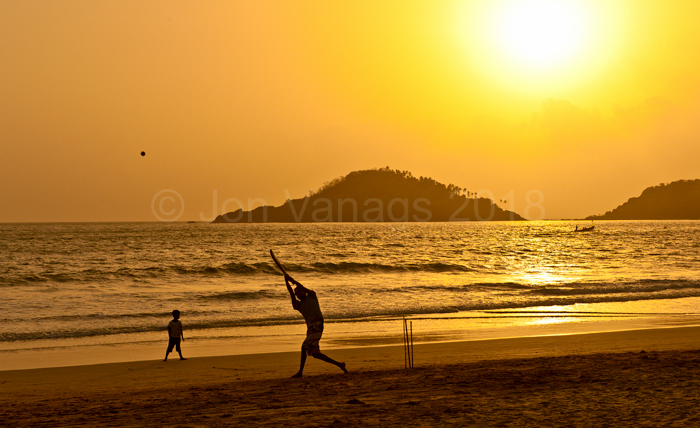 Cricket at sunset, Goa